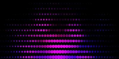 dunkelvioletter Vektorhintergrund mit Flecken.