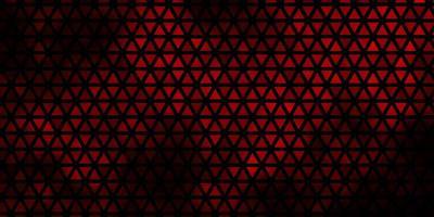 dunkelrotes Vektorlayout mit Linien, Dreiecken. vektor