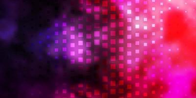 dunkelviolettes, rosa Vektorlayout mit Linien, Rechtecken.