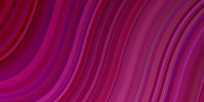 dunkelviolette, rosa Vektorschablone mit Kurven.