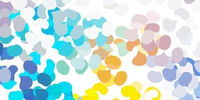 ljusblå, gul vektormall med abstrakta former.