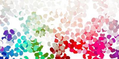 hellgrünes, rotes Vektormuster mit abstrakten Formen.