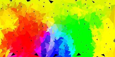 heller mehrfarbiger Vektor abstrakter Dreieckhintergrund.