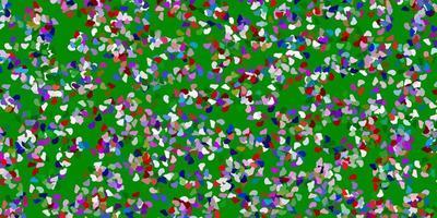 hellrosa, grünes Vektormuster mit abstrakten Formen.