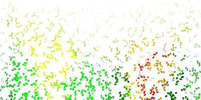 ljusgrön, gul vektormall med abstrakta former. vektor