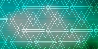 hellblaue, grüne Vektortextur mit dreieckigem Stil. vektor