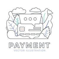 chatt tecken och kreditkort vektor stock illustration