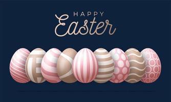 glad påsk gratulationskort vektorillustration