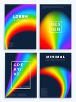 Regenbogen-Gradientenwellenplakatsatz vektor