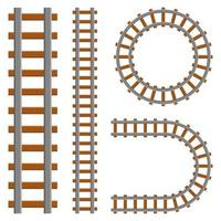 Eisenbahnsatzvektorentwurfsillustration lokalisiert auf weißem Hintergrund vektor