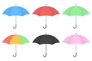 Schirmvektorentwurfsillustration lokalisiert auf weißem Hintergrund vektor