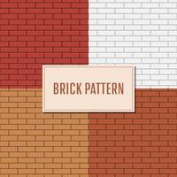 Backsteinmauer Muster Hintergrund gesetzt vektor
