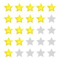 Bewertung Sterne Abstimmung Vektor-Design-Illustration isoliert auf weißem Hintergrund vektor