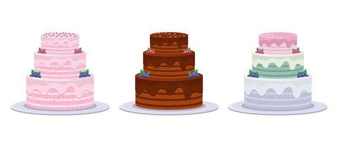Geburtstagstorte gesetzt vektor