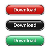 Download-Button-Set vektor