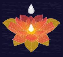 vektor handritad lotus illustration