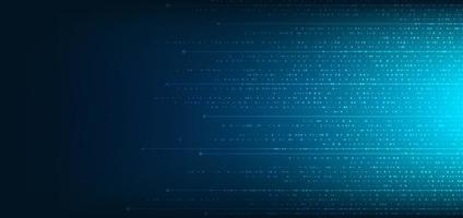 abstrakt teknik digitalt koncept blå fyrkantigt mönster med linje bakgrund vektor