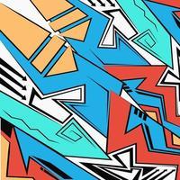 abstrakter geometrischer futuristischer heller Hintergrund, Graffiti-Zeichenstil