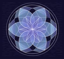 Vektor-Hand gezeichnete transparente Blumen-Illustration vektor