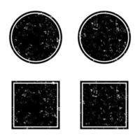 Grunge schwarze runde und quadratische Rahmen, Notbanner vektor