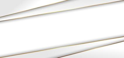 abstrakt modern elegant vit triangelbakgrund med gyllene linje lyxstil. vektor
