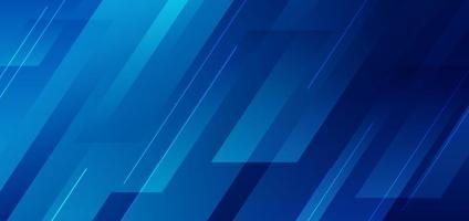 abstrakt blå diagonal geometrisk med linje modern teknik bakgrund. vektor