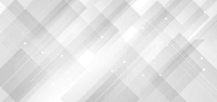 abstrakte Hintergrund moderne Technologie weiße und graue quadratische geometrische überlappende Linien. vektor
