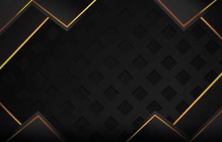 goldschwarzer Premium-Hintergrund vektor