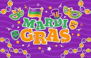 färgglad festlig mardi gras