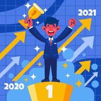 2021-året för karriärframgång vektor