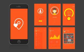 Gränssnitt och GUI för mobilapp vektor