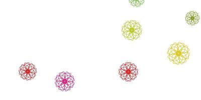 heller mehrfarbiger Vektor natürlicher Hintergrund mit Blumen.