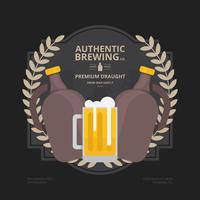 Handwerk Bier Growler Flasche Set Realist Illustration