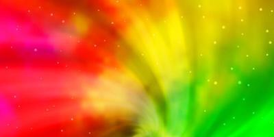 ljus flerfärgad vektorlayout med ljusa stjärnor.