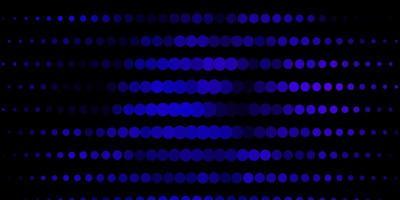 dunkelvioletter Vektorhintergrund mit Kreisen.