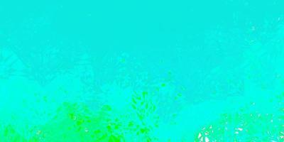 dunkelgrüner Vektorhintergrund mit Dreiecken. vektor