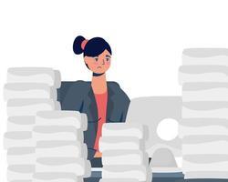 elegant affärskvinna som arbetar på skrivbordet