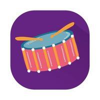 trumma musikinstrument isolerad ikon vektor