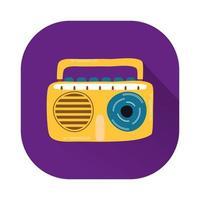 Radio Musik Player isoliert Symbol