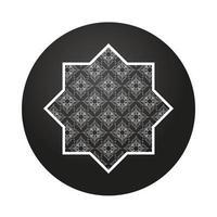 Stern und Mandala Ramadan Kareem Dekoration