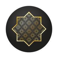 goldener Stern Ramadan Kareem Dekoration