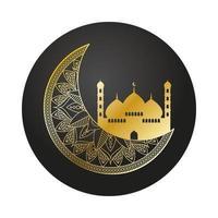 gyllene taj mahal ramadan kareem-templet