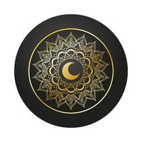 gyllene mandala ramadan kareem dekoration vektor