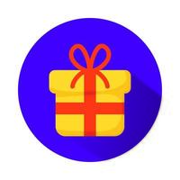 Geschenkbox präsentieren isolierte Ikone