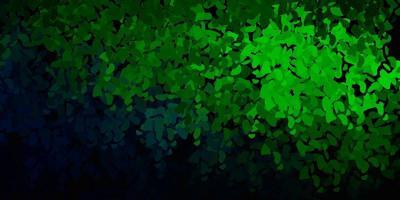 dunkelgrüne Vektorbeschaffenheit mit Memphisformen.
