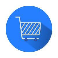 Warenkorb Marketing isoliert Symbol