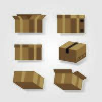 Set Boxen Karton Lieferservice