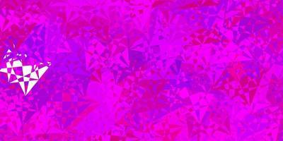 mörk röd vektor bakgrund med trianglar.