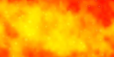 hellorange Vektorschablone mit Neonsternen.