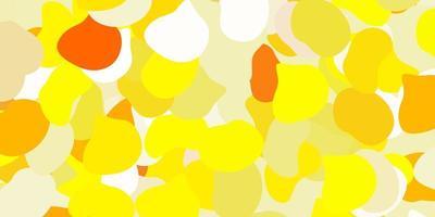 hellgelbes Vektormuster mit abstrakten Formen.